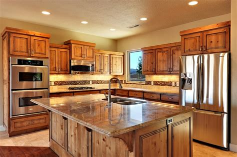Rustic Cherry Kitchen Cabinets Pin By Allison Lott On A Cook S Kitchen Pinterest