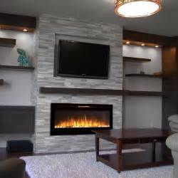 Wall Electric Fireplace Sydney 50 Inch Pebble Recessed Pebble Wall Mounted Electric Fireplace