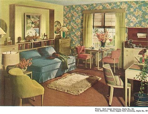 Vintage Living Room Dresser 1940s Decor 32 Pages Of Designs And Ideas From 1944