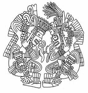 aztec coloring pages sun goddesses and aztec on