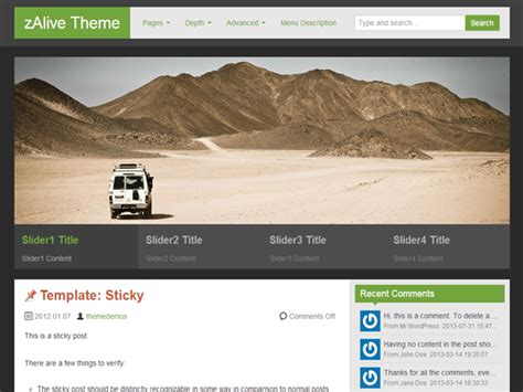 html themes with slider free download wordpress header image slider plugin free download