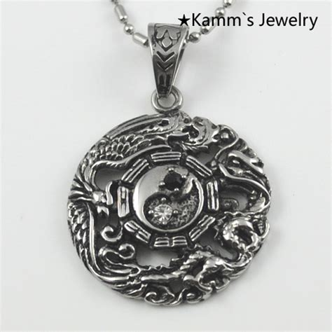 316l Stainless Steel Yin Yang Pendant Necklace Norse Vikings Ru aliexpress buy 1 yin yang unisex 316l stainless steel pendant necklace