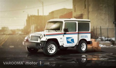 tesla jeep concept what if usps has hummer or tesla as part of their delivery