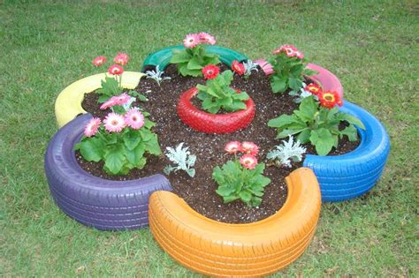 tire flower beds flower bed made from old tires and small tire in the