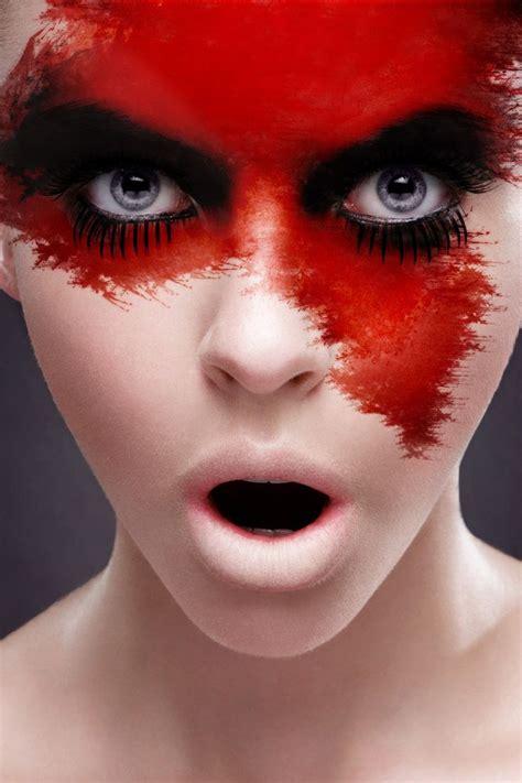 blood red paint artistic makeup ideas blood red facepaint makeup ideas