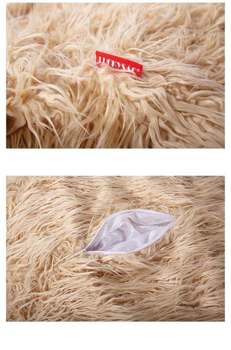 shaggy faux fur bean bag large faux fur beanbag bean bag cover shaggy fur fur