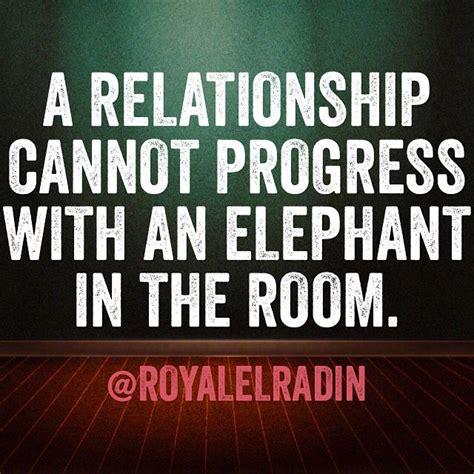 There Is An Elephant In The Room Poem by A Relationship Cannot Progress With An Elephant In The