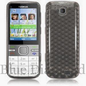 Casing Hp Nokia C5 00 nokia c5 00 clear gel honeycomb skin cover shell co uk electronics