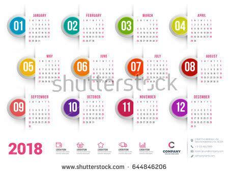 calendar new design vector calendar 2017 year vector design stationery stock vector