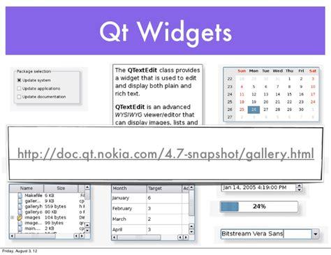 qt layout gallery qtruby