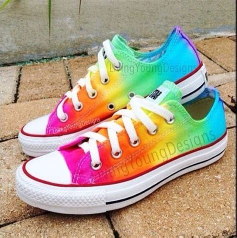 colorful converse shoes converse converse colorful rainbow wheretoget