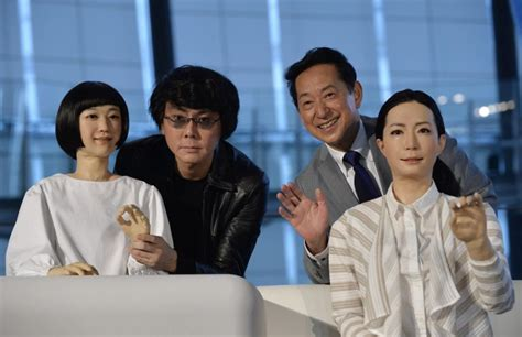 japanese android see it world s android newscasters deliver the news in japan ny daily news