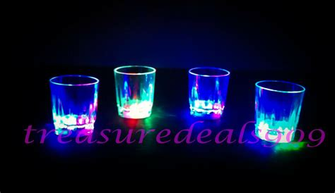 Led Barware by 12 Pcs Led Light Up Drink Glasses Acrylic Cup Barware