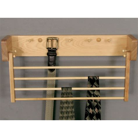 Belt And Tie Rack by Wood Tie And Belt Rack In Tie And Belt Racks