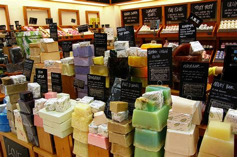 Lush Handmade Soap - my great challenge lush cosmetics store negative