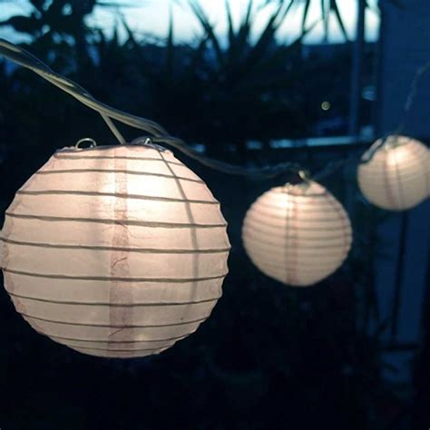 White Paper Lantern String Lights String Lights 4 Inch Round Paper Lanterns 8 3 Feet