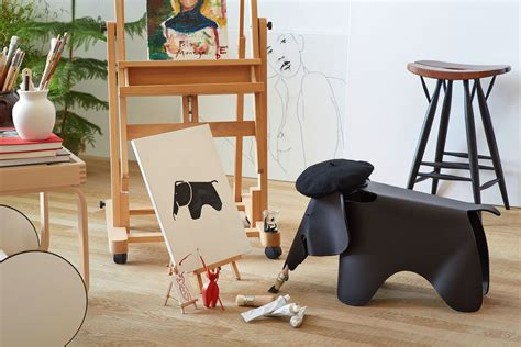 Red And Black Office Chair Vitra Eames Elephant
