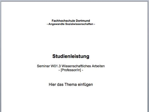 Vorlage Word Hausarbeit Jura Word Deckblatt Und Zusammenfassung F 252 R Studienleistung Convictorius