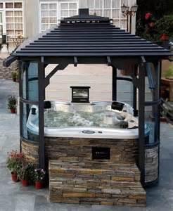 bathtub spa attachment pergola enclosure ideas around my tub privacy outdoor