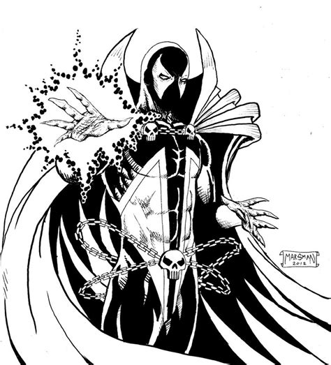 spawn free coloring pages