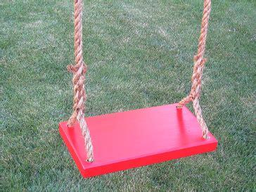 kids rope swing red classic kids wood tree swing free shipping on tree