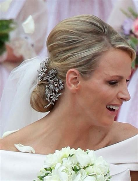 princess charlene wedding hair charlene wittstock wedding tiara