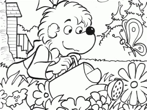 Berenstain Bears Halloween Coloring Pages Coloring Home Berenstain Bears Tree Coloring Page