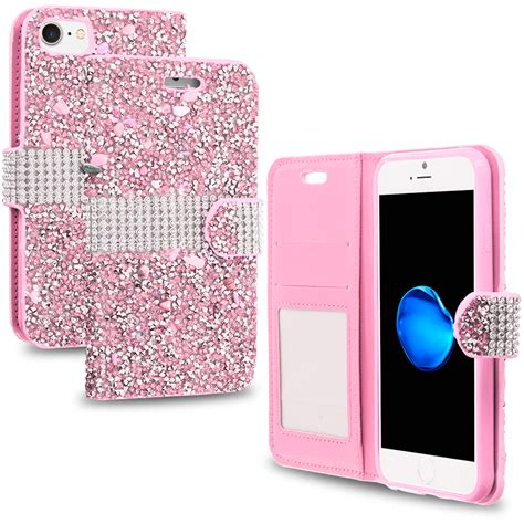 Blingcase Studed For Iphone for iphone 7 plus 5 5 luxury bling rhinestone wallet cover slots ebay