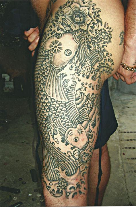 full body tribal tattoos tribal and fish big magic koh phangan