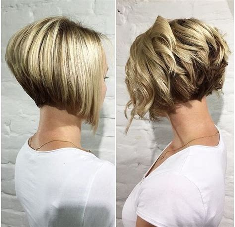 puffy short bob haircuts for women with thick hair 20 trendy stacked hairstyles for short hair practicality