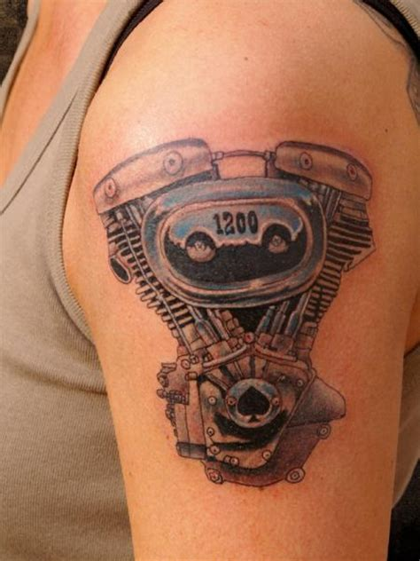 body electric tattoo arm realistic motor by andys electric