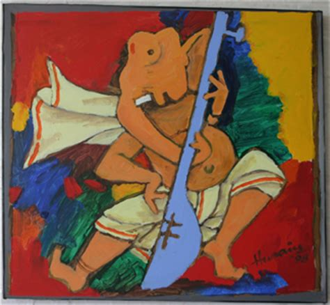 M F Hussain Sketches by Telugu Cinema Wallpapers M F Hussain S Paintings