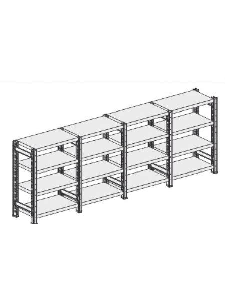 montaggio scaffali metallici scaffale metallico in acciaio 4 ripiani cm 110x40x200h