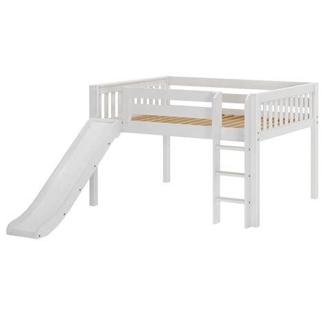 low loft bed with slide amazing full slat low loft bed with straight ladder and