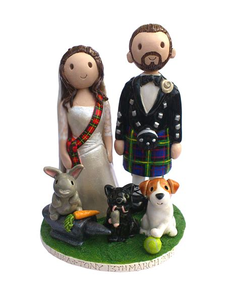 Handmade Cake Toppers Uk - wedding cake toppers made personalised ceramic cake