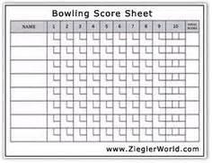 bowling recap sheet template bowling score sheet bowling bowling