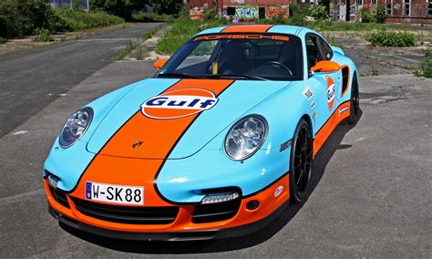 gulf porsche gulf racing livery by cam shaft for the porsche 911 turbo