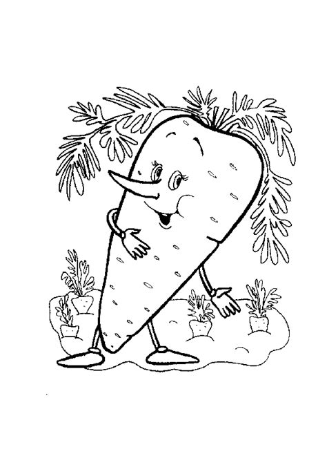 carrot coloring pages    print