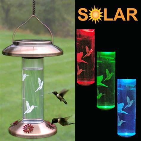 solar lighted hummingbird feeder bird feeders bird houses bird baths home and garden