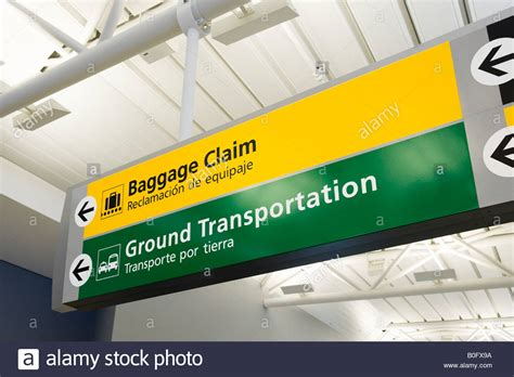 Jfk Airport Information Desk by Signs For Baggage Reclaim Ground Transportation In