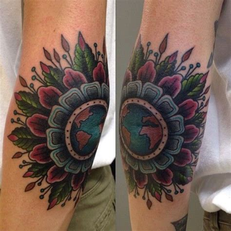mandala elbow tattoo 25 best ideas about tattoos on colorful