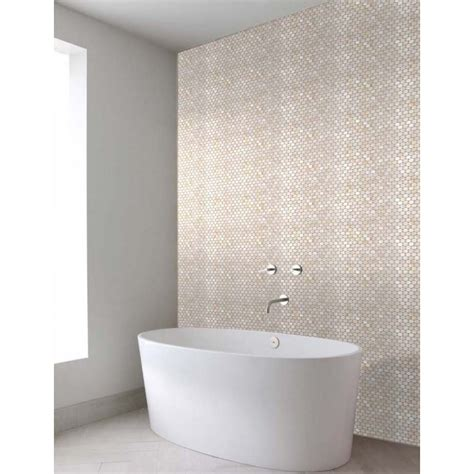 pearl tiles bathroom penny round mother of pearl wall mirror tile
