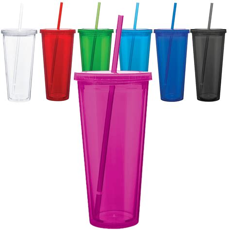 acrylic wholesale acrylic tumblers wall insulated cups w lid straw