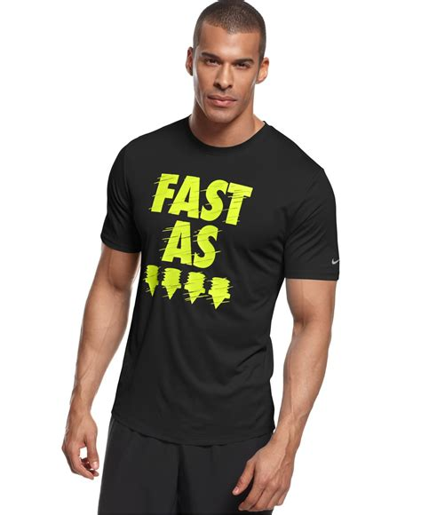 nike fast as t shirt in black for lyst