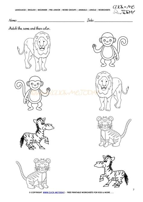 free printable jungle worksheets pin on kindergarten worksheets