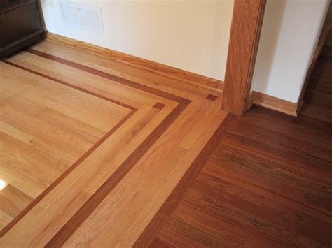 custom wood border hardwood flooring anderson floor