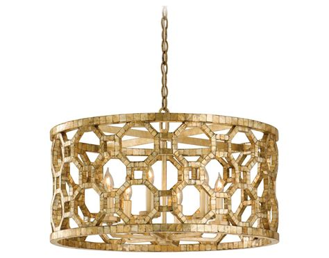 Gold Pendant Light Corbett Lighting Regatta Six Light Stained Silver Leaf Pendant Ct10446