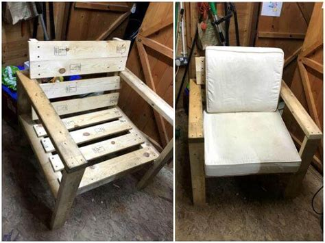 diy armchair wood pallet skull chair