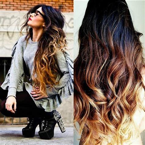 ombre out of fashion piękne ombre na długich włosach fryzury galeria
