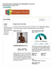 Shadow Health Comprehensive Assessment Documentation